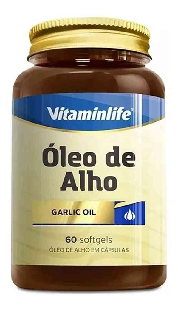 Óleo de Alho 250 mg  60 Cápsulas  Vitamin Life