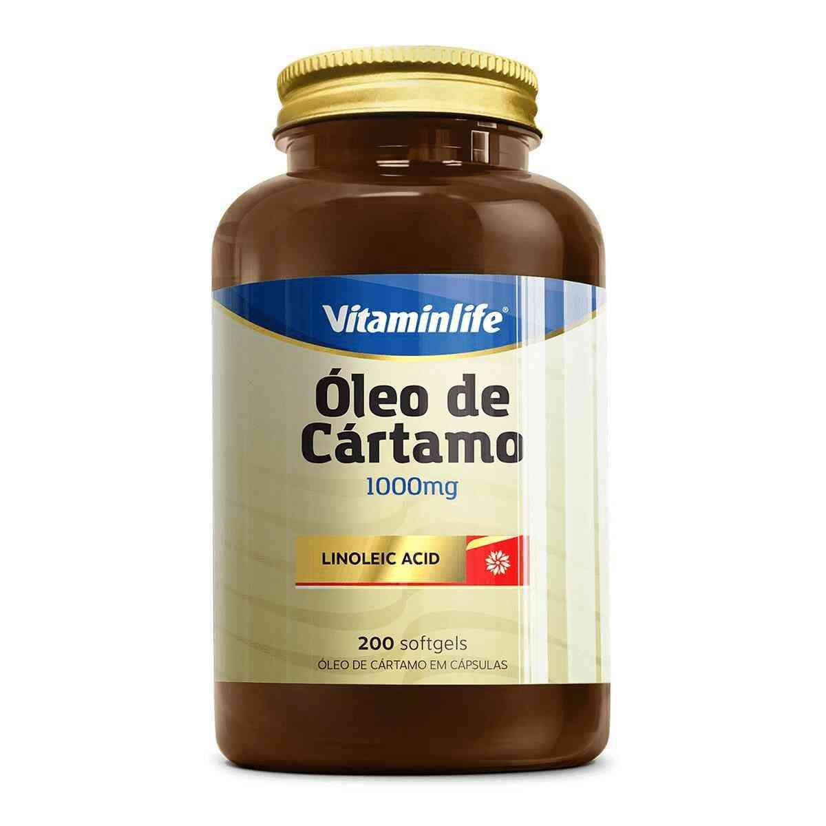 Óleo de Cártamo  200 Cápsulas  Vitamin Life