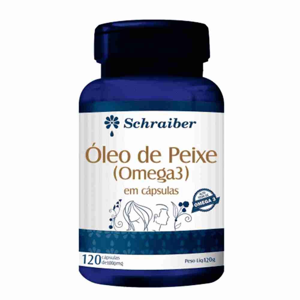 Óleo Peixe Omega3 1000mg 120 Cápsulas Schraiber