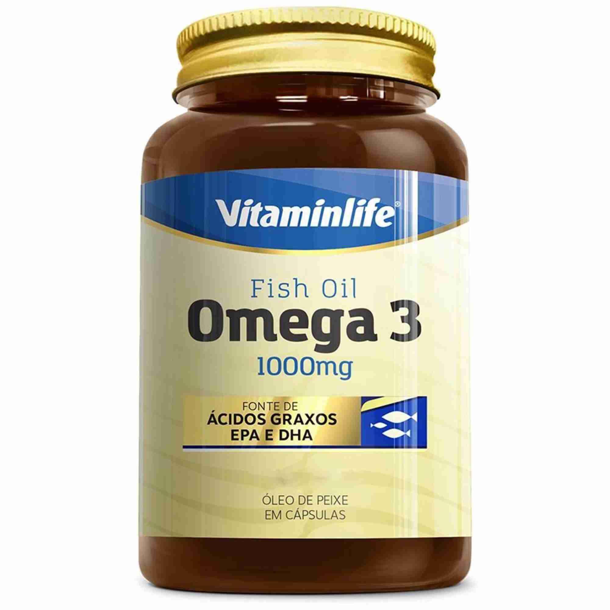Ômega 3 1000 mg  120 Cápsulas  Vitamin Life