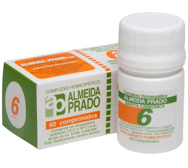 Óvulos homeopáticos c/ 6 unidades Almeida Prado