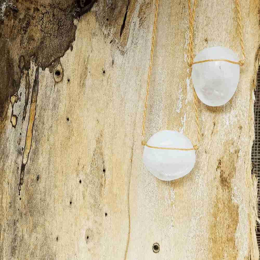 Perfumeira Pedra Mod Arred Quartzo Branco Pura Chuva