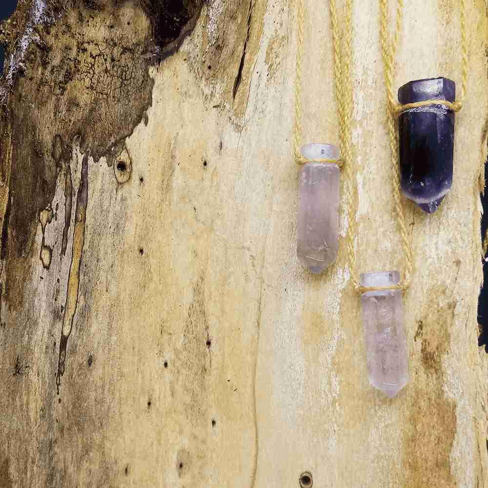 Perfumeira Pedra Mod Pêndulo Ametista Pura Chuva