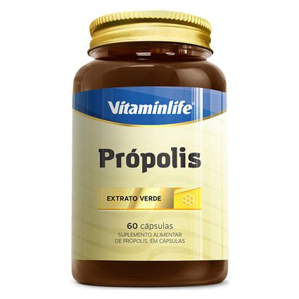 Própolis 250 mg  60 Cápsulas  Vitamin Life