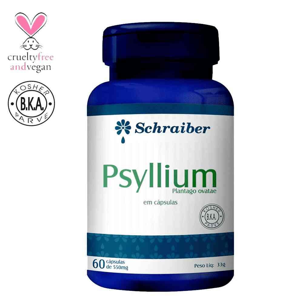 Psyllium 550mg 60 Cápsulas Schraiber