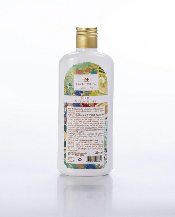 Refil Sabonete Líquido Floral Lemon 250mL Madressenza