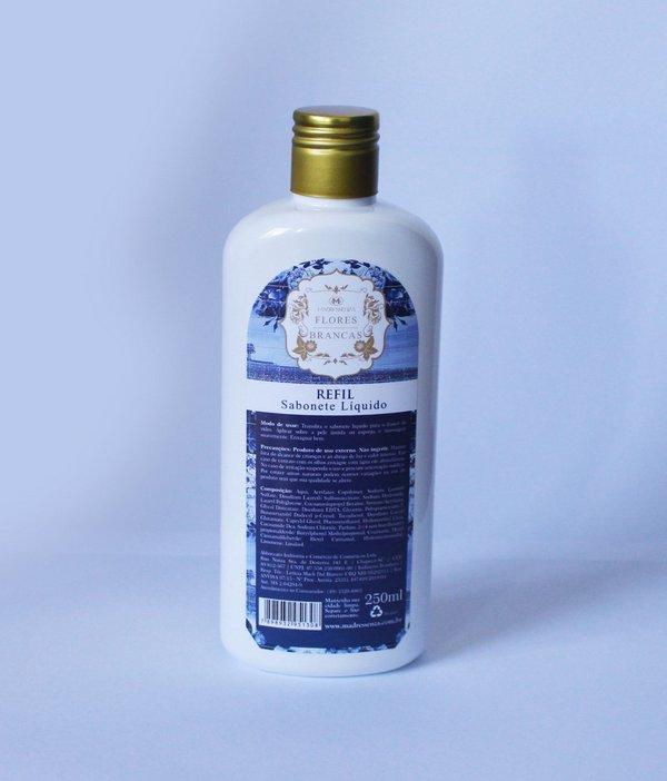 Refil Sabonete Liquido Flores Brancas 250mL Madressenza