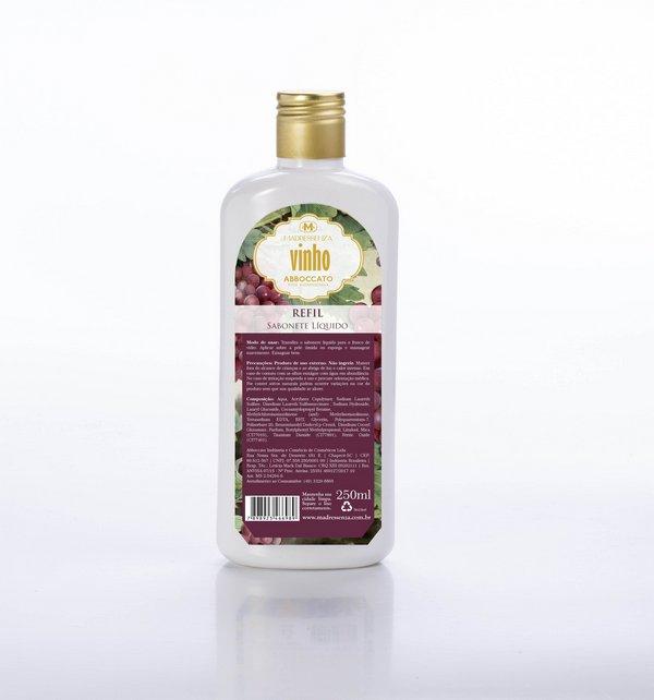Refil Sabonete Líquido Vinho 250 mL Madressenza