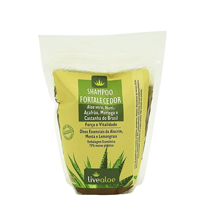 Refil Shampoo Fortalecedor 500mL Live Aloe