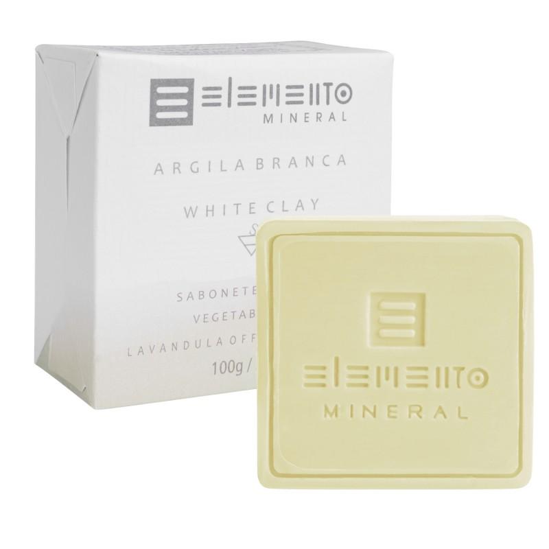 Sabonete Argila Branca 100g Elemento Mineral