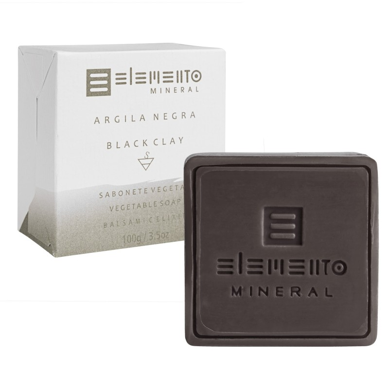 Sabonete Argila Negra 100g Elemento Mineral