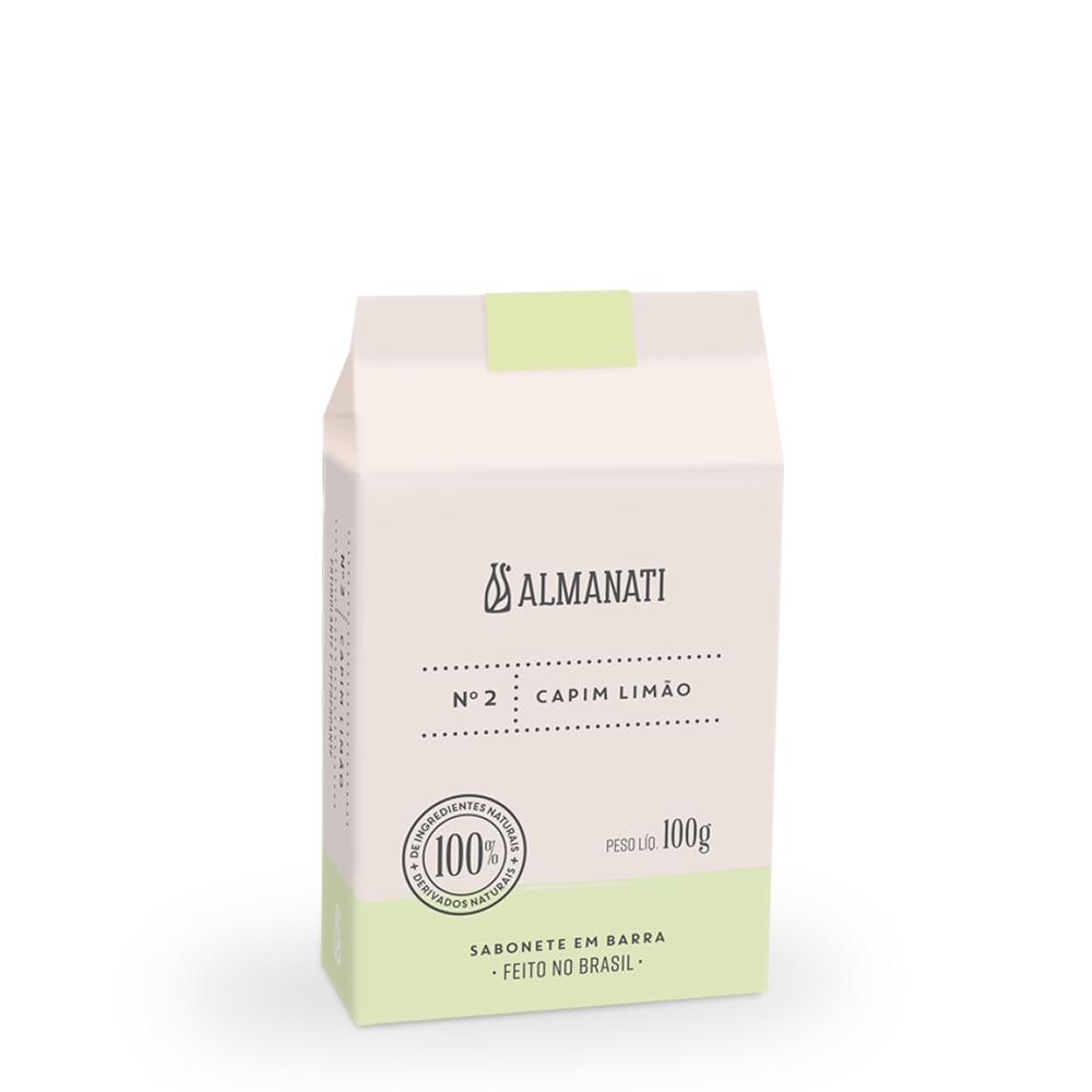 Sabonete Barra Capim Limão 100g Almanati