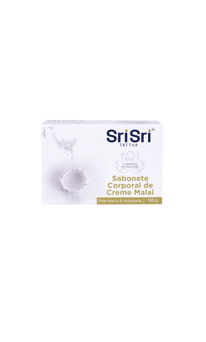 Sabonete Barra Facial Creme Malai 100g Sri Sri