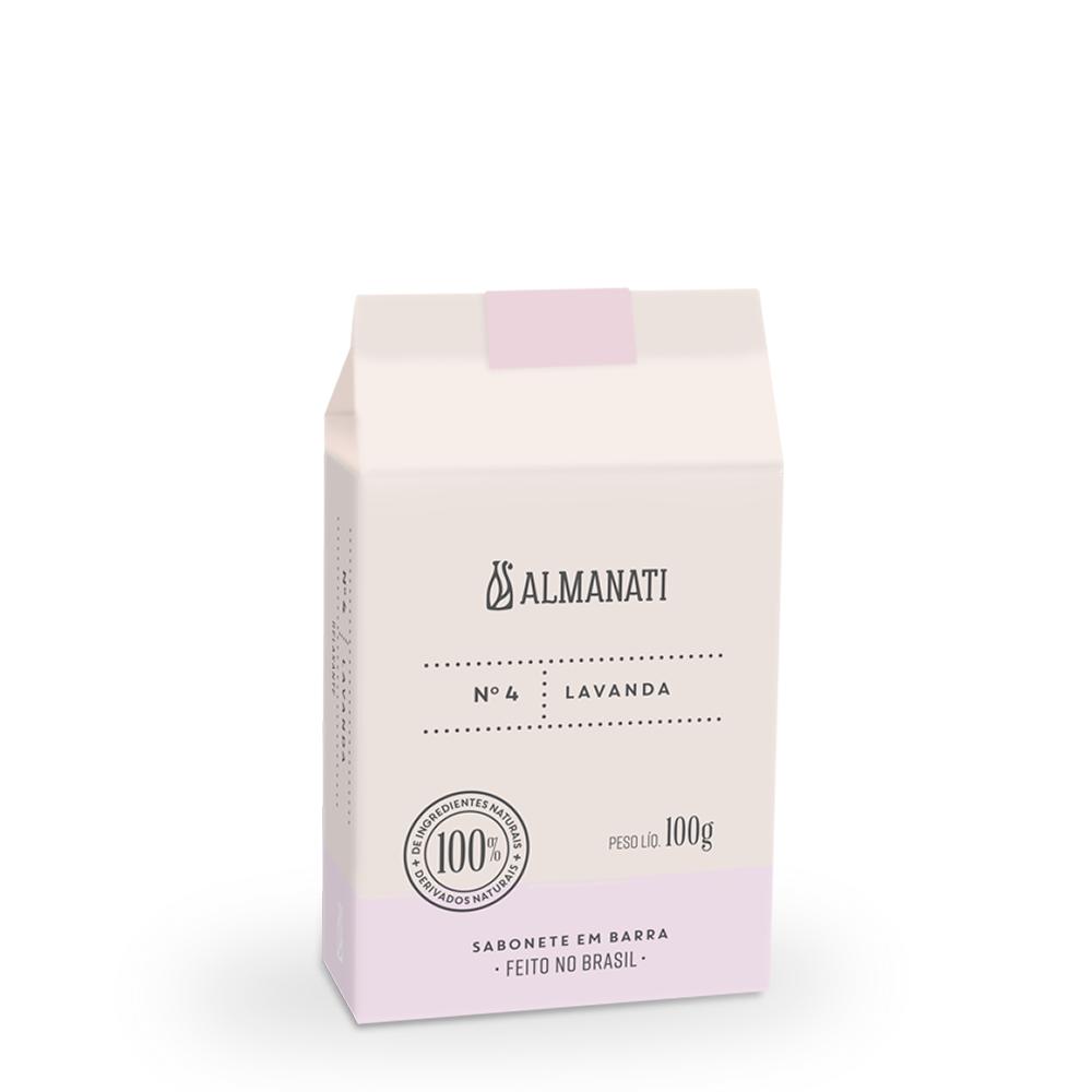 Sabonete Barra Lavanda 100g Almanati