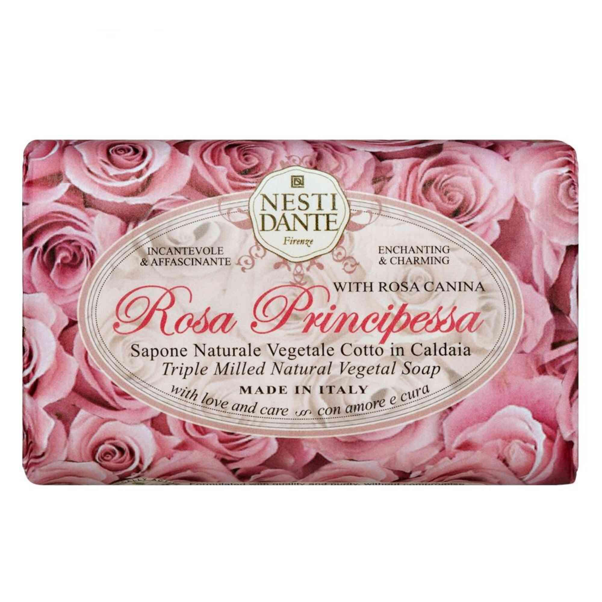 Sabonete Barra Le Rose Principessa 150gr Nesti Dante
