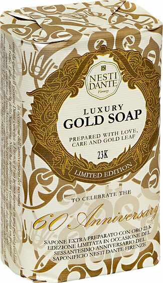 Sabonete Barra Luxury Gold Soap 250gr Nesti Dante