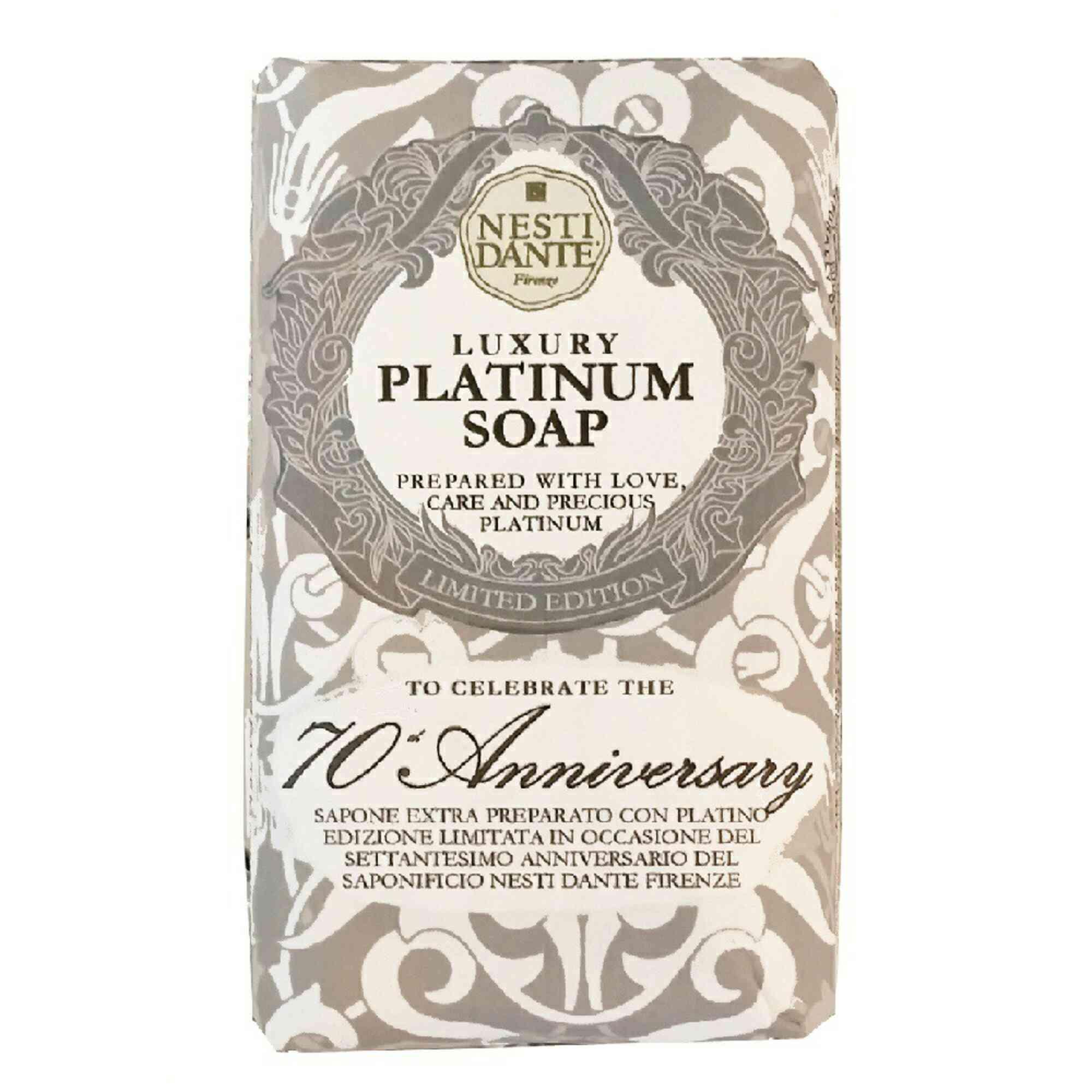 Sabonete Barra Luxury Platinum Soap 250gr Nesti Dante