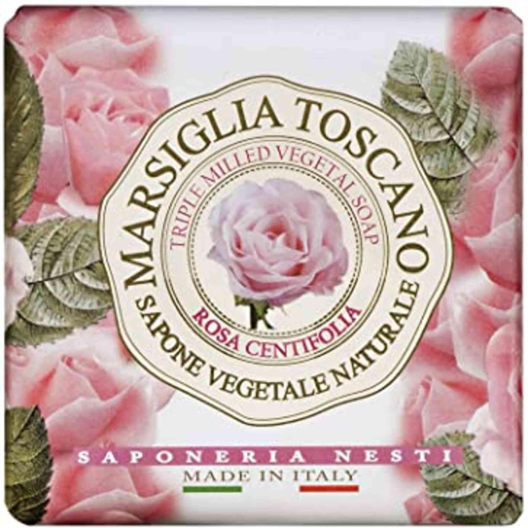 Sabonete Barra Marsiglia Toscano Rosa Centifolia 200gr Nesti Dante