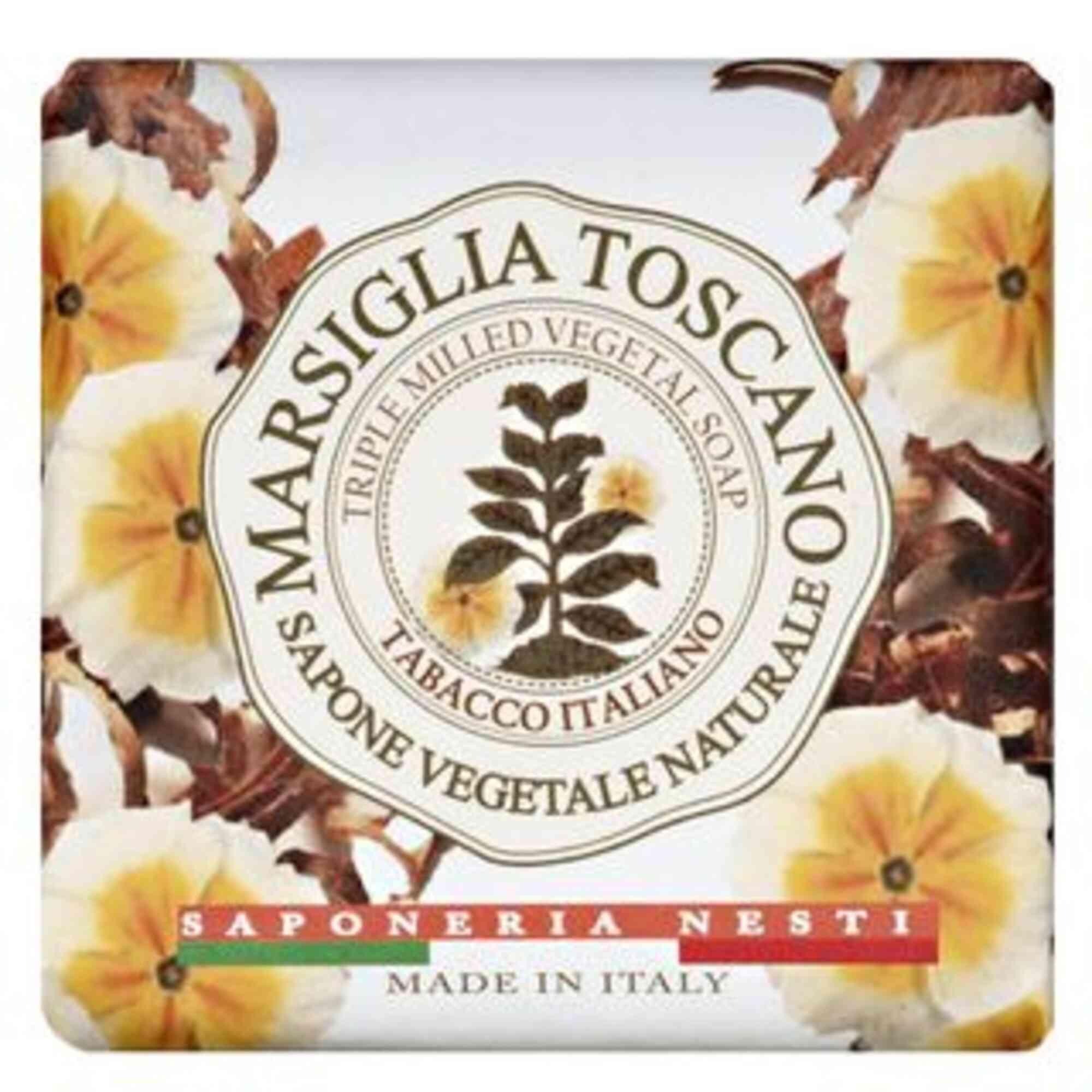 Sabonete Barra Marsiglia Toscano Tabacco Italiano 200gr Nesti Dante