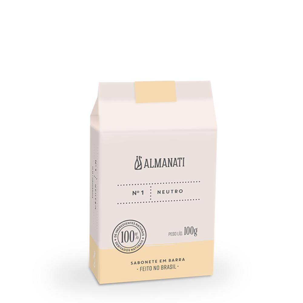 Sabonete Barra Neutro 100g Almanati