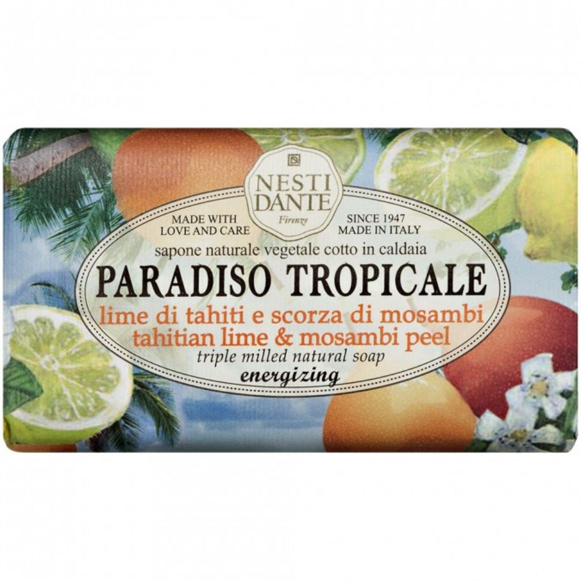 Sabonete Barra Paradiso Tropicale Lima Do Thaiti e Casca de Mosambi 250gr Nesti Dante