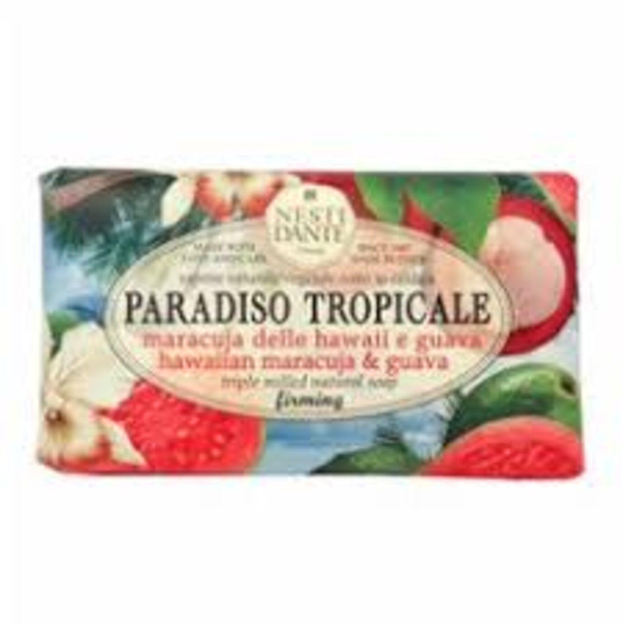 Sabonete Barra Paradiso Tropicale Maracujá Do Hawaii e goiaba 250gr Nesti Dante