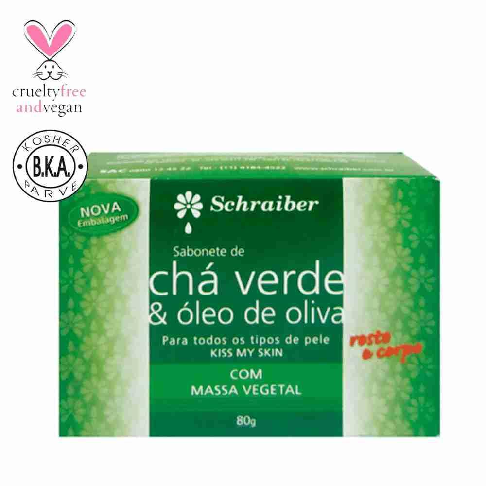 Sabonete Chá Verde Oliva 80g Schraiber