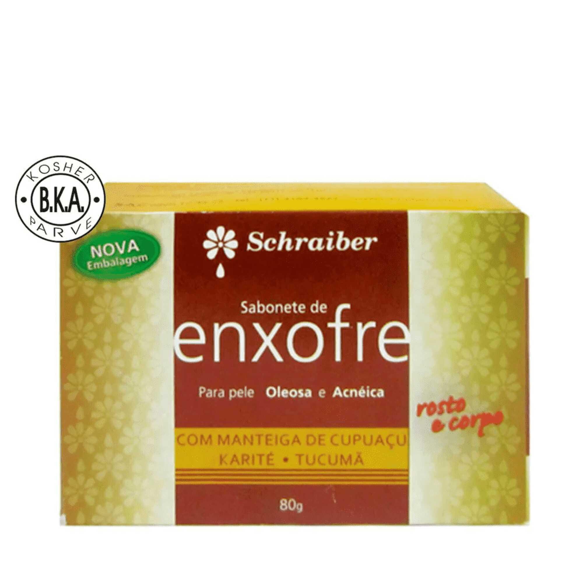 Sabonete Enxofre 80g Schraiber