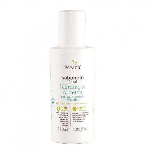 Sabonete Facial Hidratação e Detox 120mL Vegana