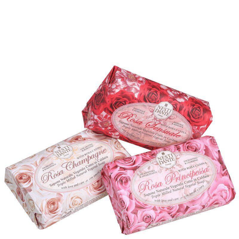 Sabonete Gift Le Rose 3 x 150gr Nesti Dante