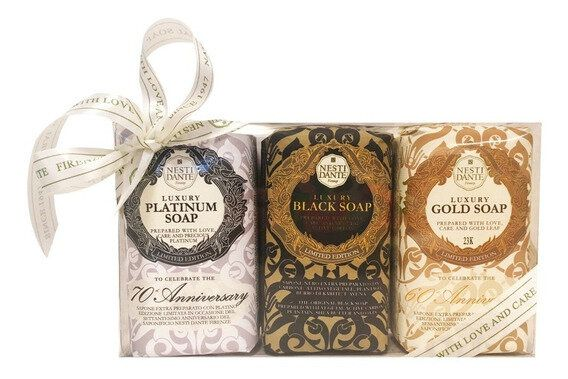 Sabonete Gift Luxury - Gold/Platinum/Black 2 x 150gr Nesti Dante