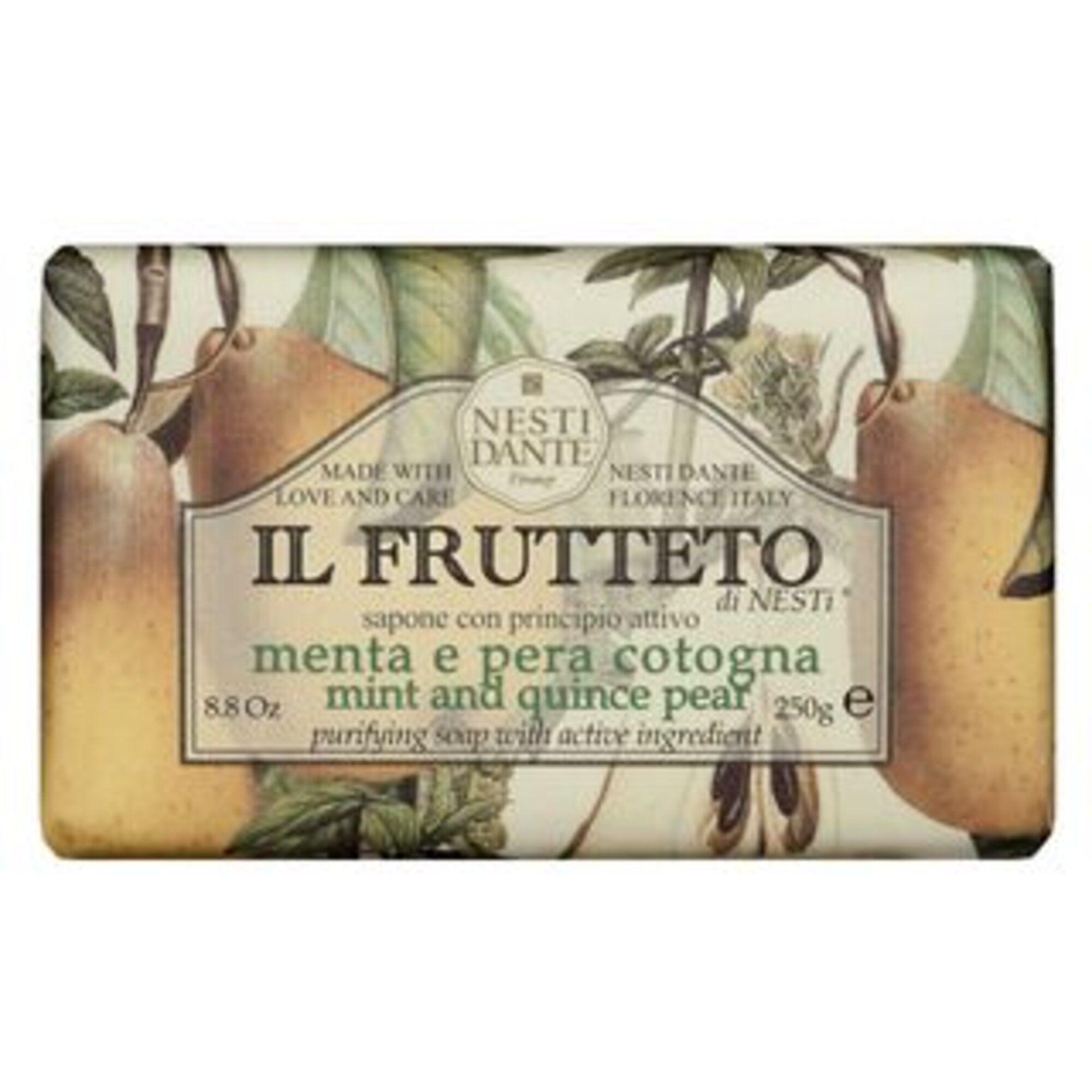 Sabonete Il Frutteto Menta e Pêra Cotogna 250g Nesti Dante