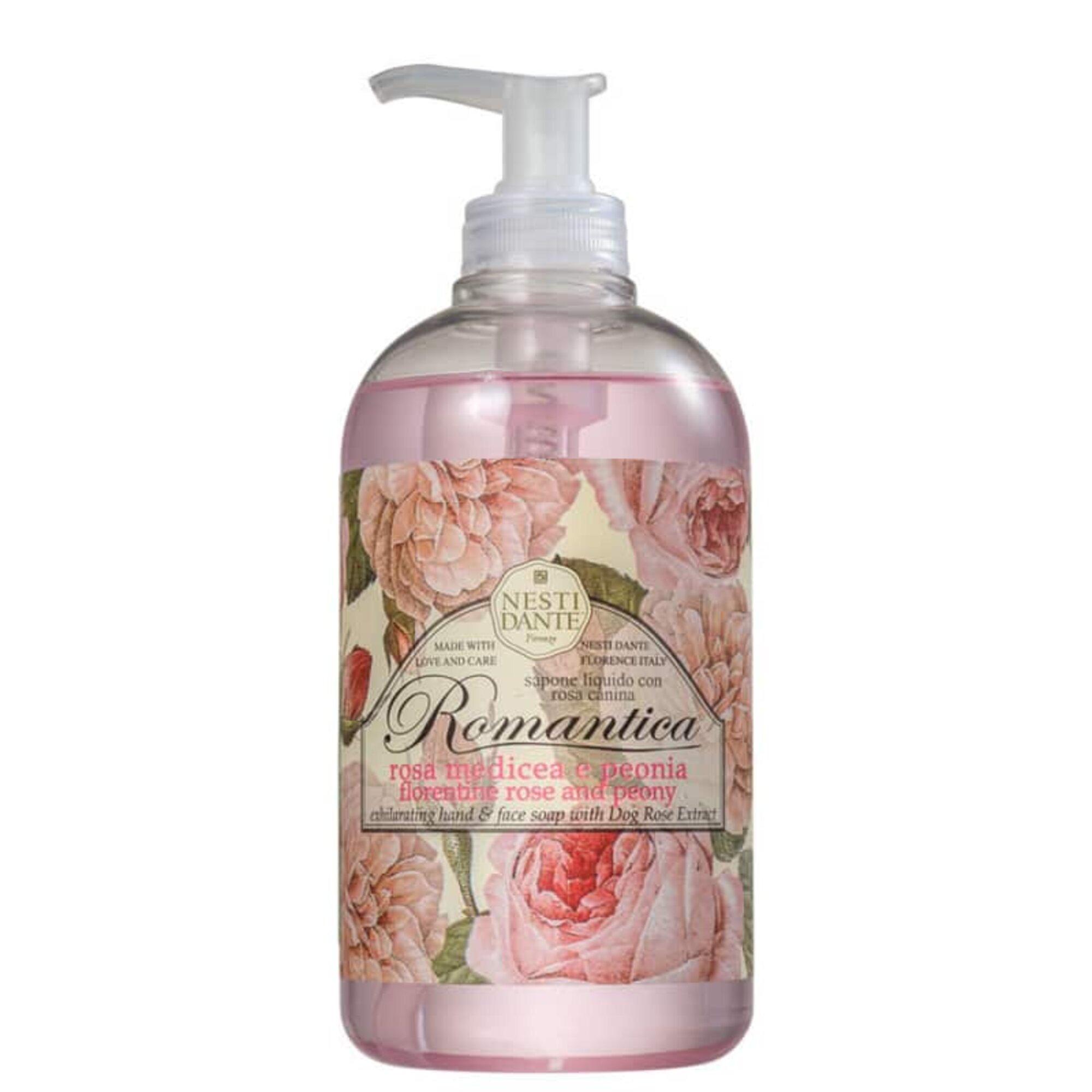 Sabonete Líquido Romantica Rosa Medicea e Peonia 500 mL Nesti Dante