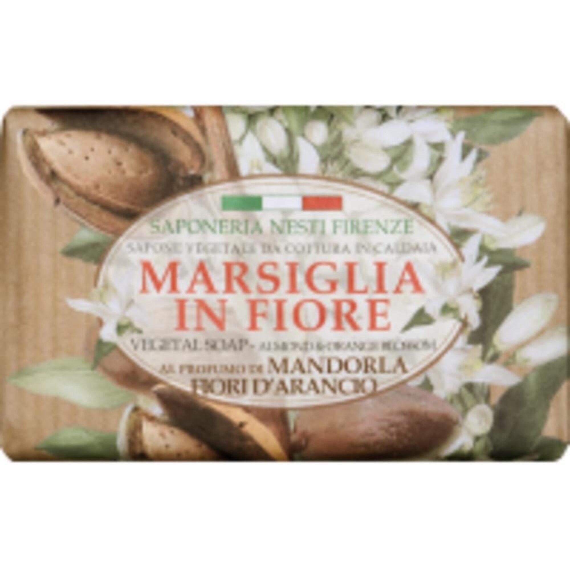 Sabonete Marsiglia In Fiore Amêndoa e Flor de Laranjeira 125g Nesti Dante