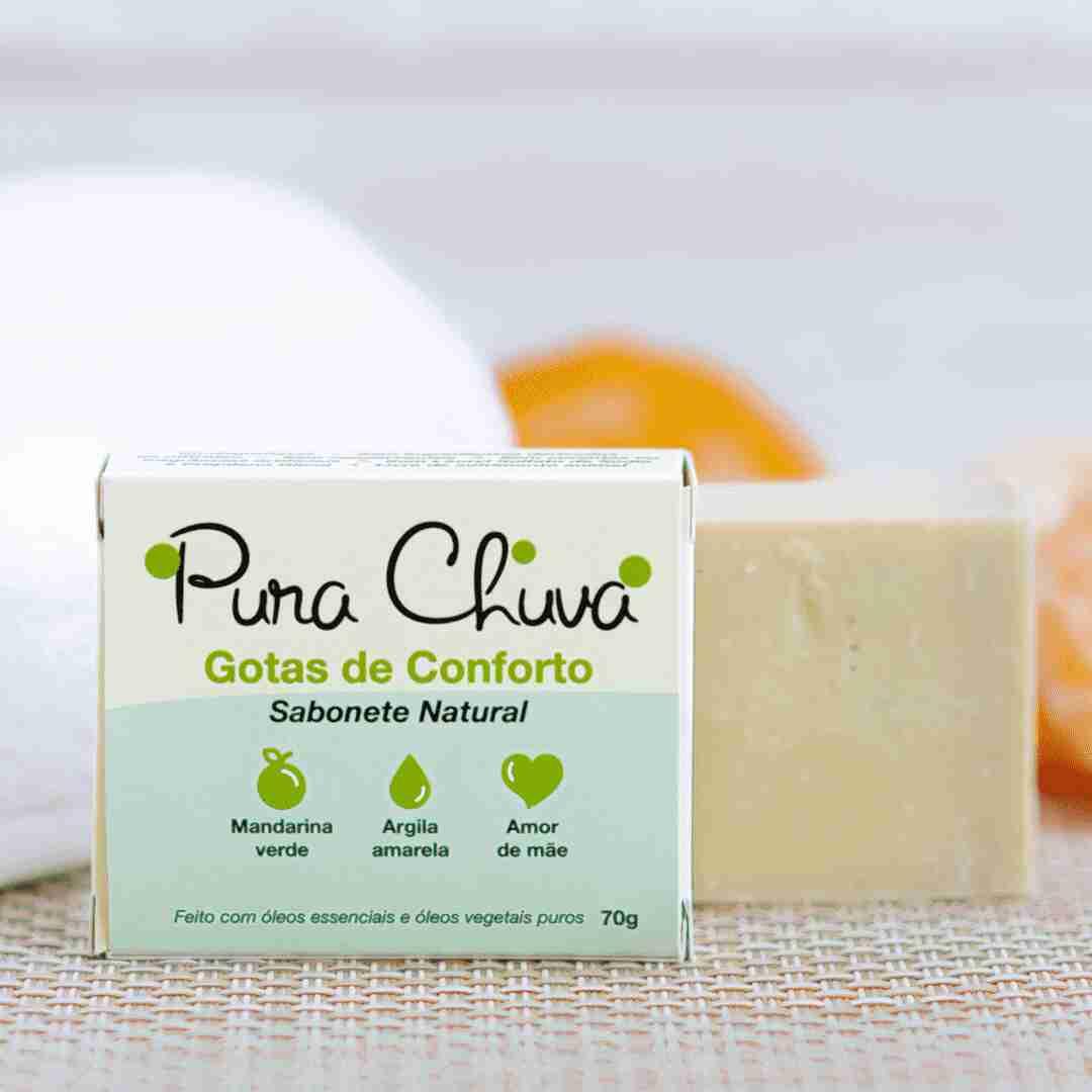 Sabonete Natural Gotas de Conforto 70g Pura Chuva