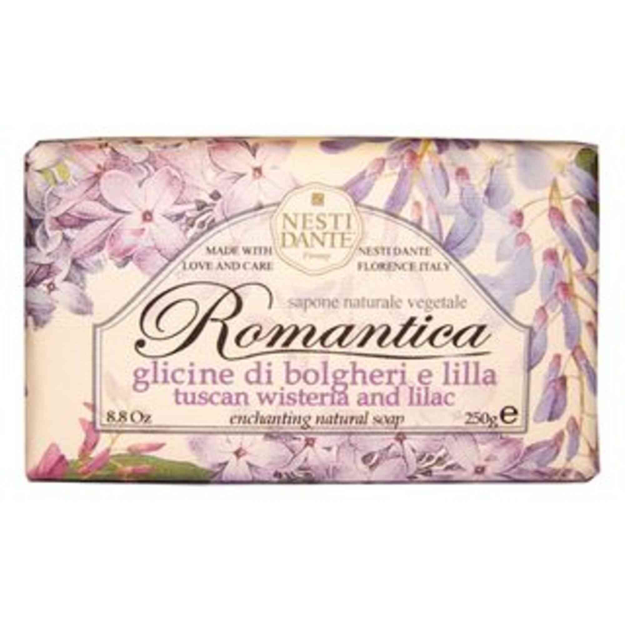 Sabonete Romantica glicínia Toscana e Essências de Lílas 250g Nesti Dante