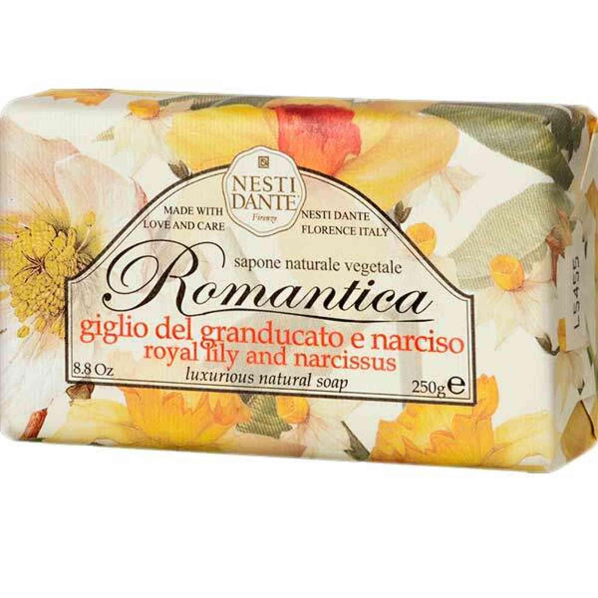 Sabonete Romantica Rosas Florentinas Com Essências de Peônia 250g Nesti Dante