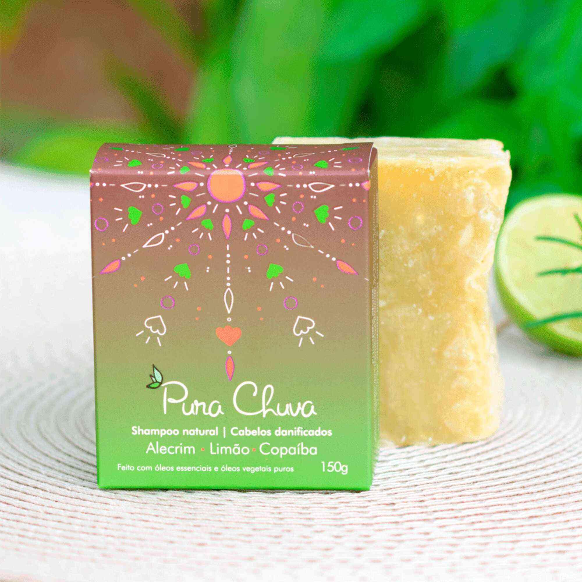 Shampoo Barra Limao/Alecrim/Copaiba Pura Chuva