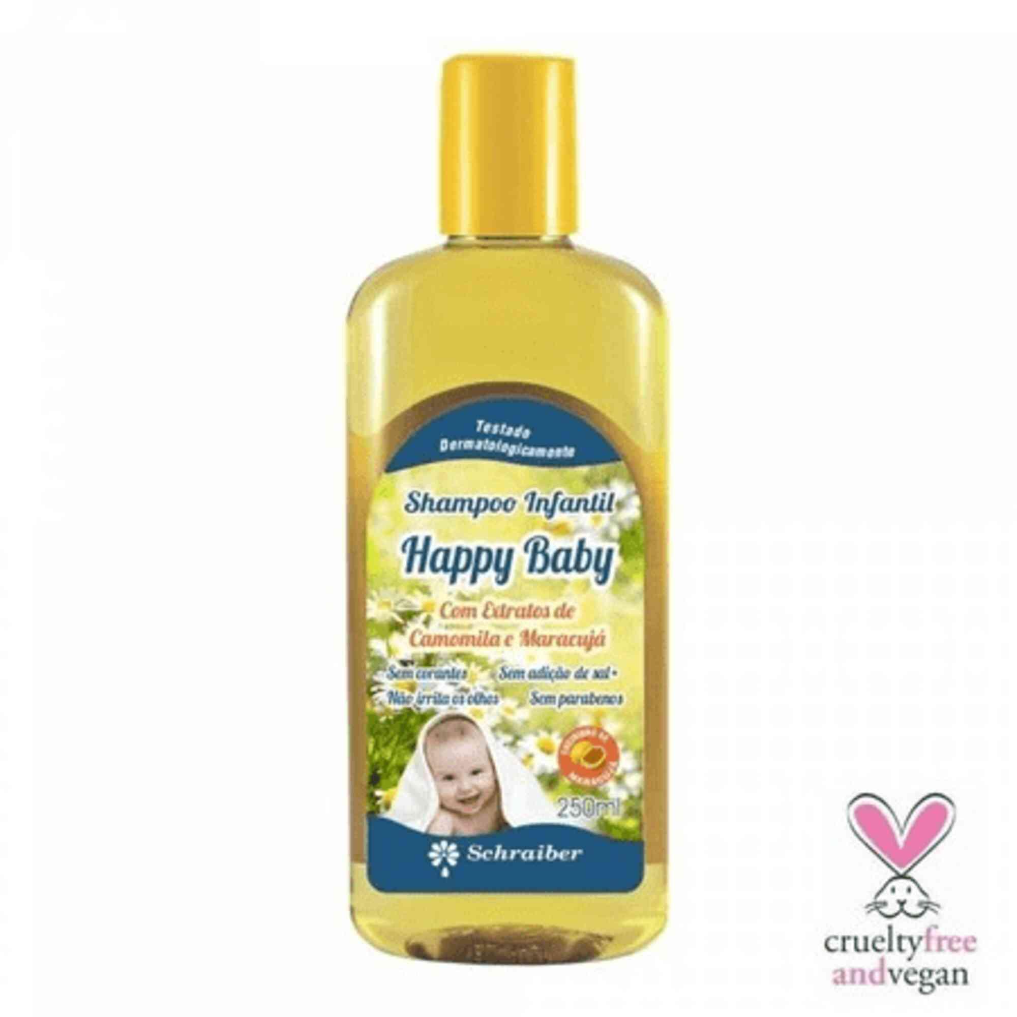 Shampoo Infantil Happy Baby 250mL Schraiber