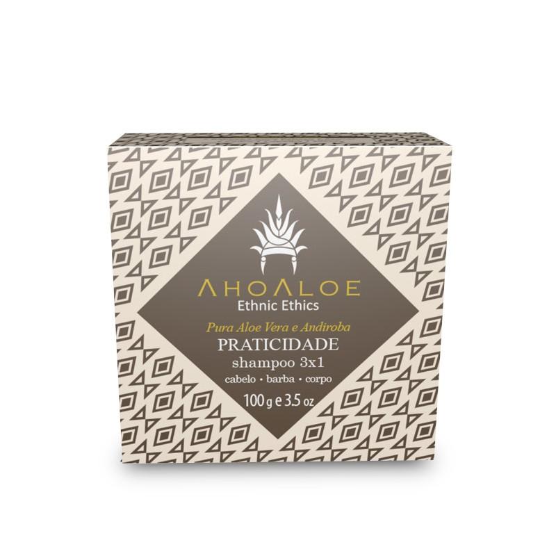 Shampoo Sólido 3X1 Praticidade 100g Ahoaloe
