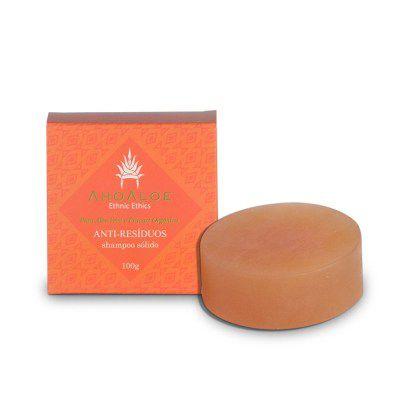 Shampoo Sólido Anti Resíduo 100g Ahoaloe