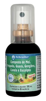 Spray Mel / Própolis / Guaco / Gengibre / Canela / Eucalipto 35mL Schraiber