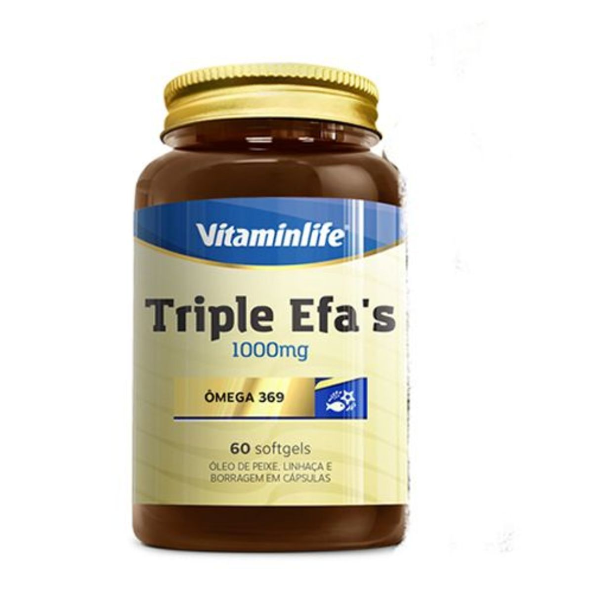 Triple Efa´S Ômega 369 60 Cápsulas  Vitamin Life
