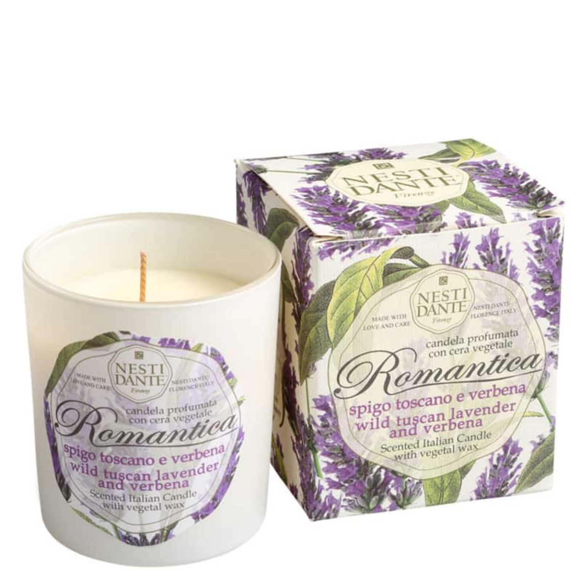 Vela Perfumada Romantica Lavanda Toscana e Verbena 160gr Nesti Dante