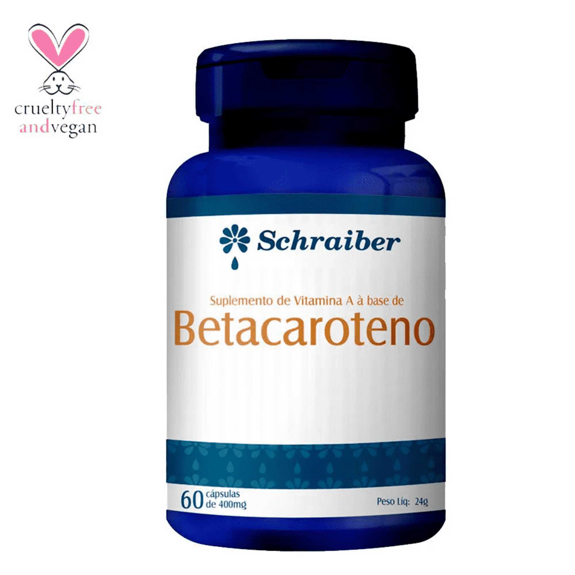 Vitamina A + Betacaroteno 400mg 60 Cápsulas Schraiber