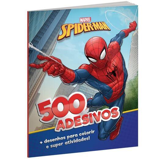 Livro de Colorir e 500 Adesivos Marvel Homem Aranha - Culturama