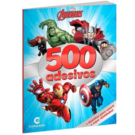 Livro de Colorir e 500 Adesivos Marvel Vingadores  Culturama