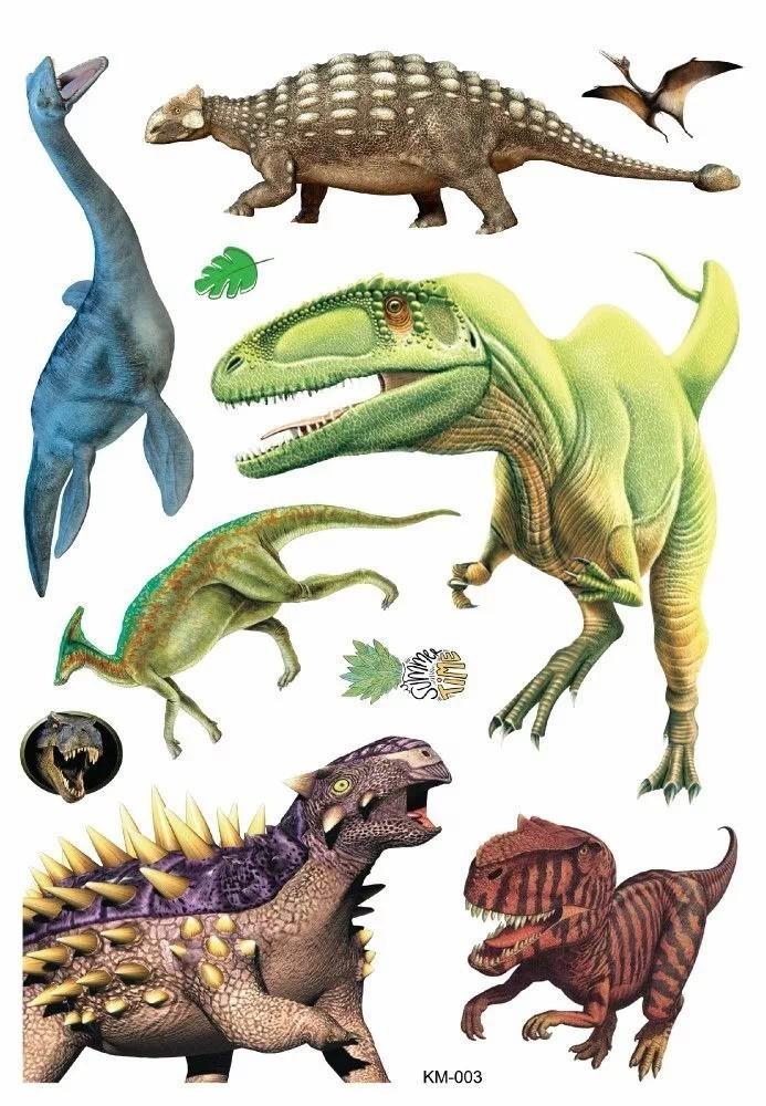 Adesivos 3D 63 X 37 Cm Dinossauros Pais E Filhos