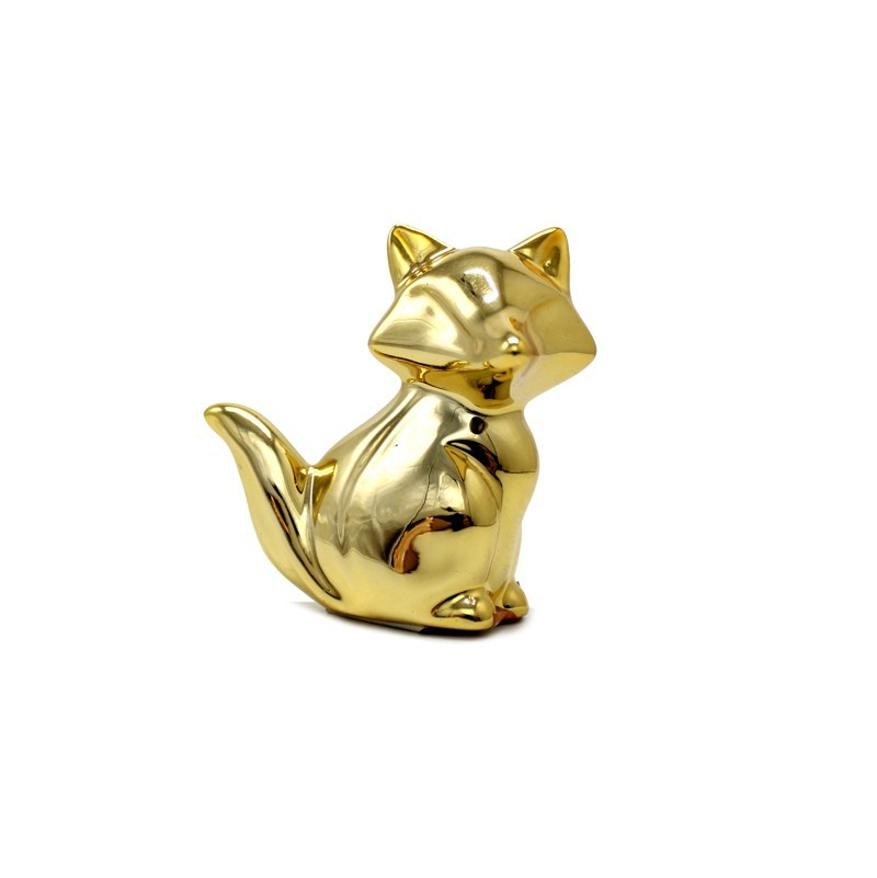 Animal Decorativo Raposa Dourado 10 CM - FWB