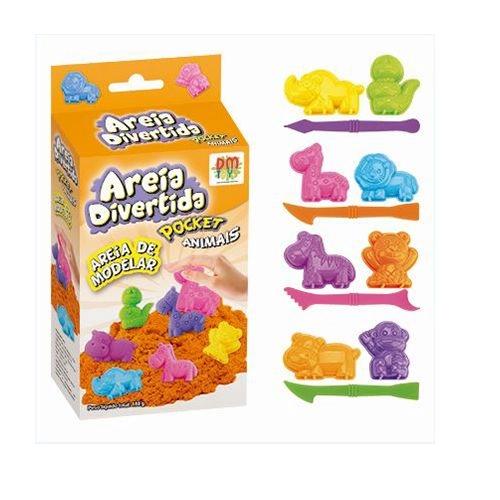 Areia Divertida Pocket Animais DM Toys
